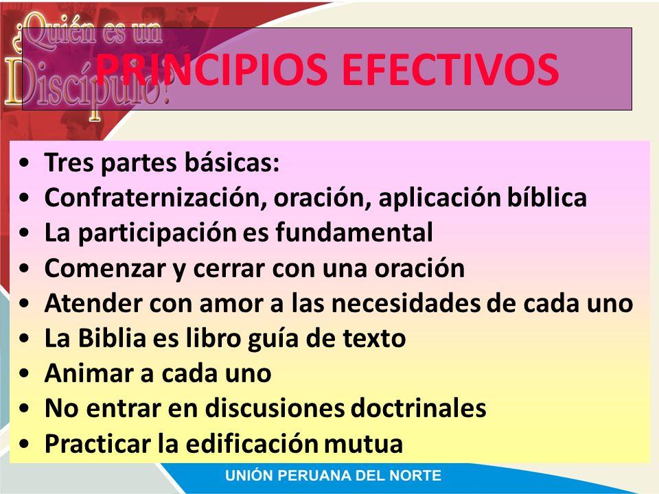 PRINCIPIOS EFECTIVOS Tres partes básicas:
