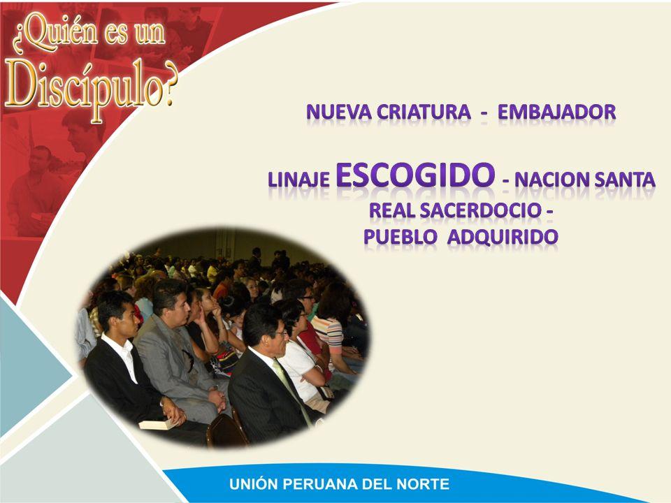 NUEVA CRIATURA - EMBAJADOR LINAJE ESCOGIDO - NACION SANTA