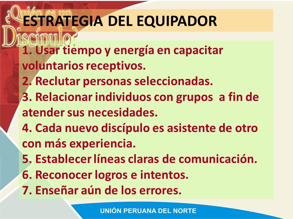 ESTRATEGIA DEL EQUIPADOR