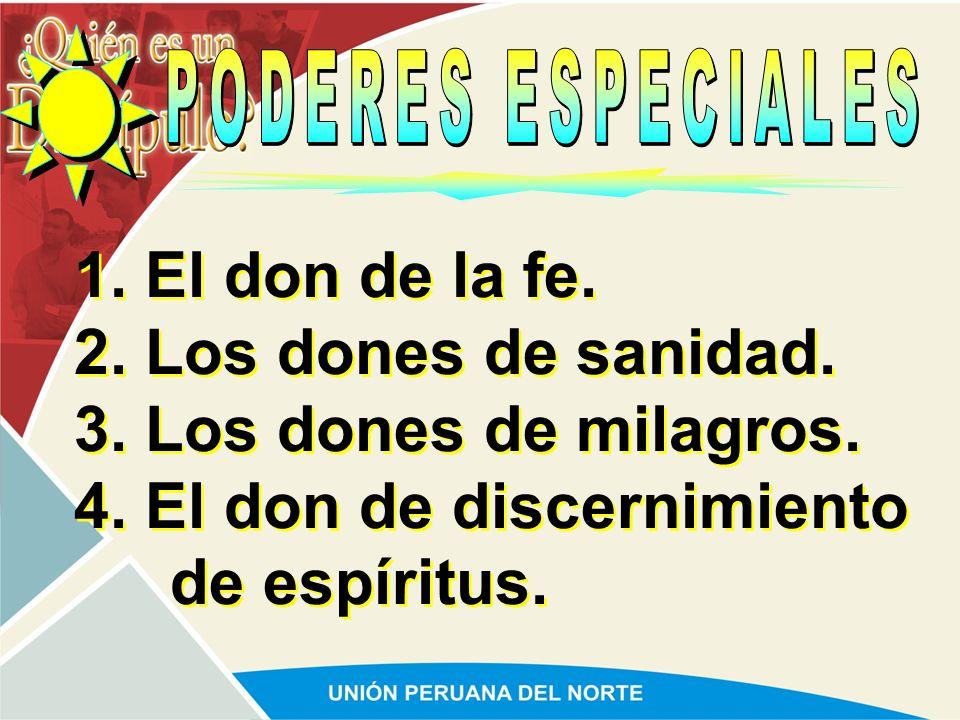 4. El don de discernimiento de espíritus.