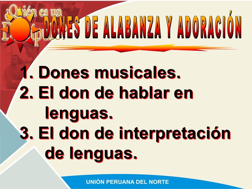DONES DE ALABANZA Y ADORACIÓN
