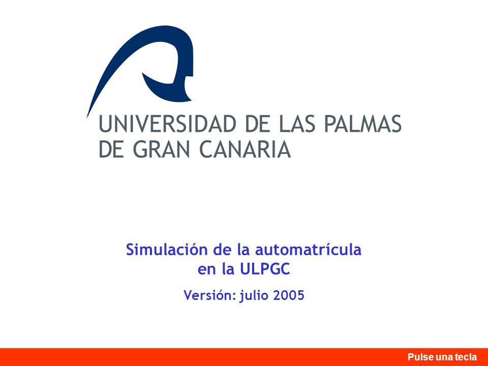 Simulación de la automatrícula en la ULPGC