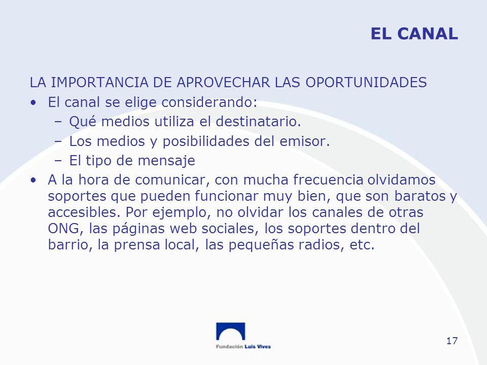 EL CANAL LA IMPORTANCIA DE APROVECHAR LAS OPORTUNIDADES