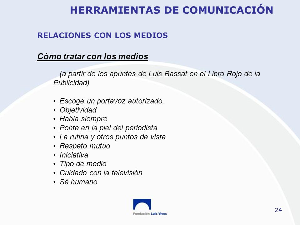 RELACIONES CON LOS MEDIOS