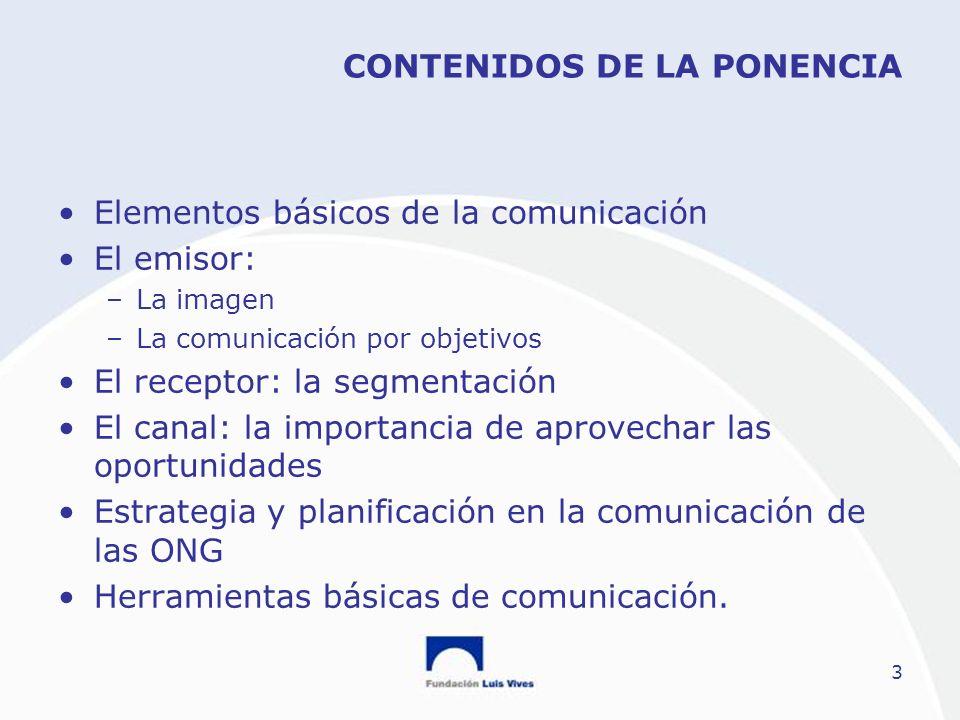 CONTENIDOS DE LA PONENCIA