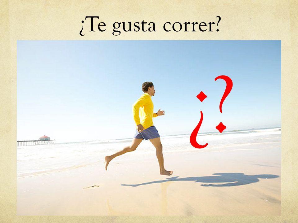 ¿Te gusta correr ¿