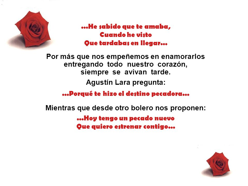 Agustín Lara pregunta: