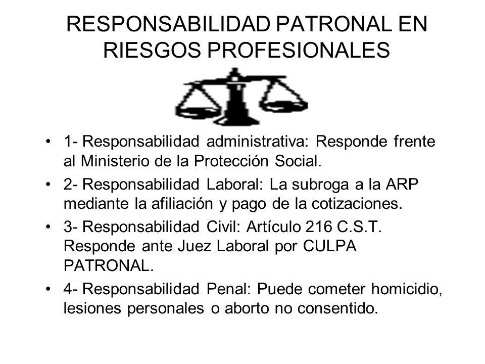 RESPONSABILIDAD PATRONAL EN RIESGOS PROFESIONALES
