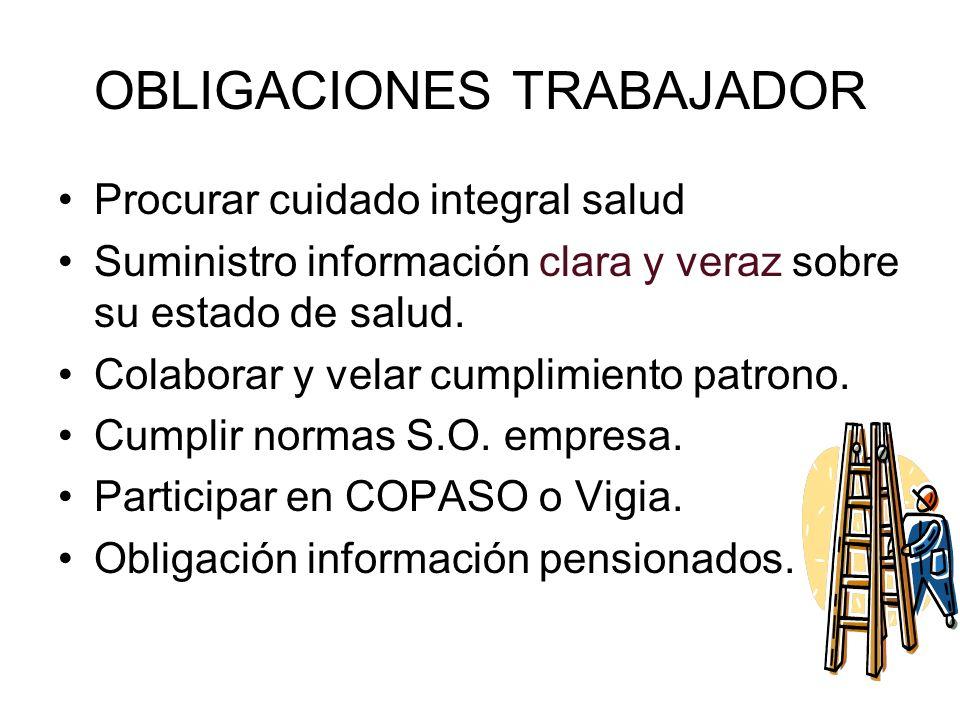 OBLIGACIONES TRABAJADOR