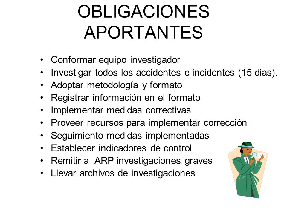 OBLIGACIONES APORTANTES