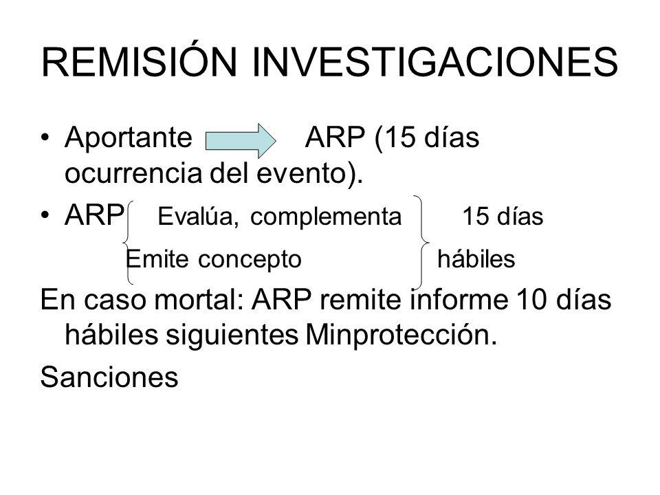 REMISIÓN INVESTIGACIONES
