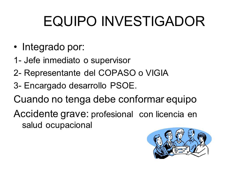 EQUIPO INVESTIGADOR Integrado por: