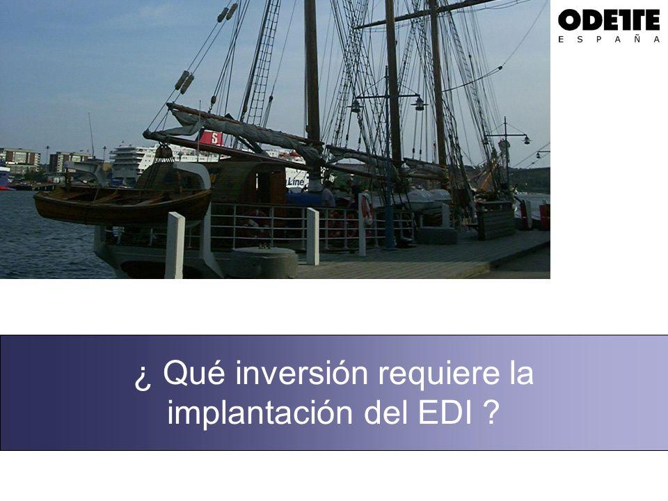 ¿ Qué inversión requiere la implantación del EDI