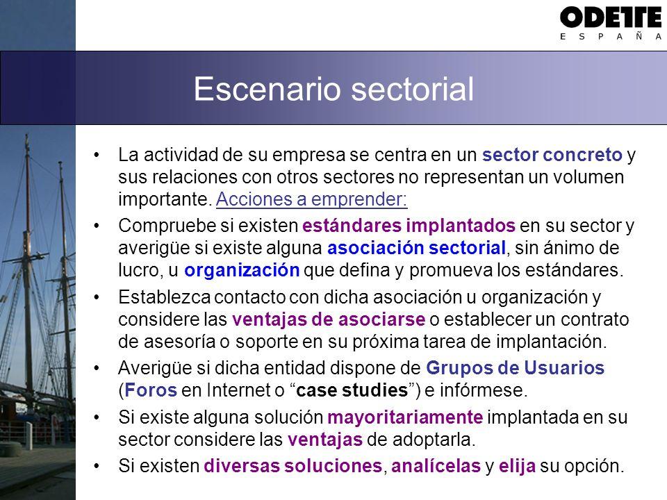 Escenario sectorial