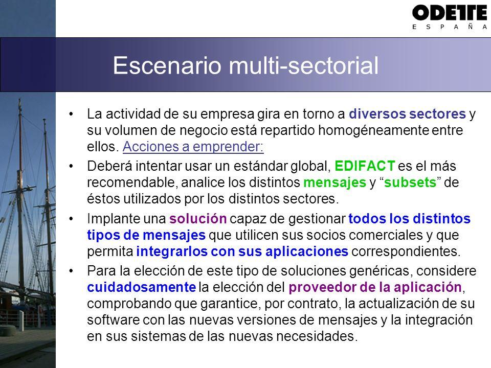 Escenario multi-sectorial