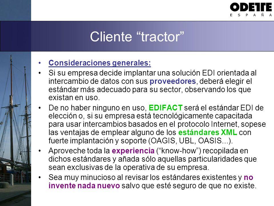 Cliente tractor Consideraciones generales: