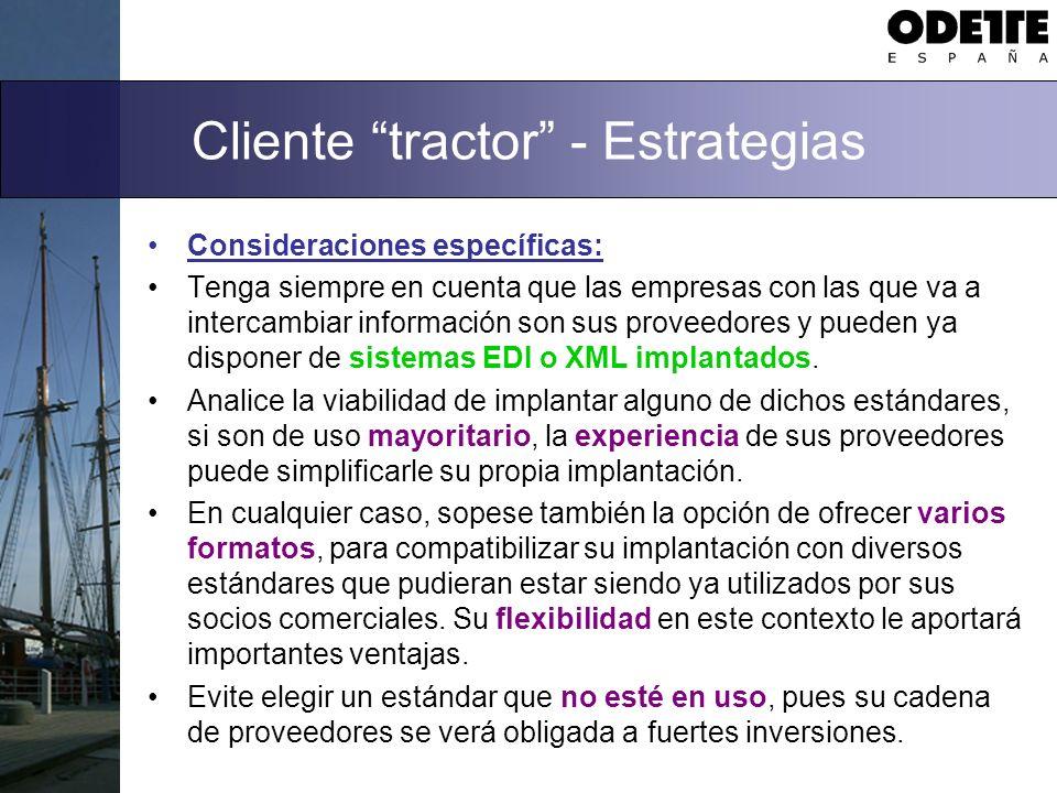 Cliente tractor - Estrategias