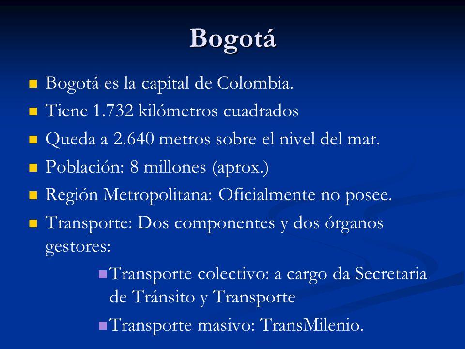 Bogotá Bogotá es la capital de Colombia.