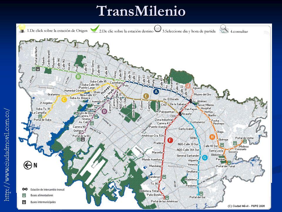TransMilenio http://www.ciudadmovil.com.co/