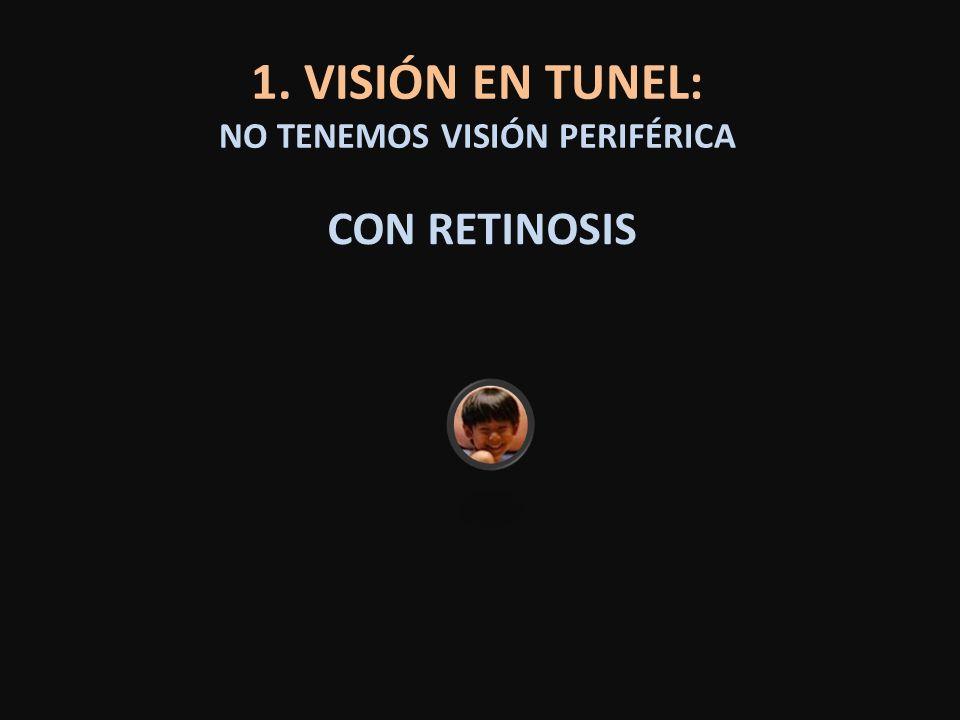 1. VISIÓN EN TUNEL: NO TENEMOS VISIÓN PERIFÉRICA