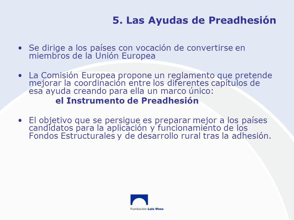 5. Las Ayudas de Preadhesión