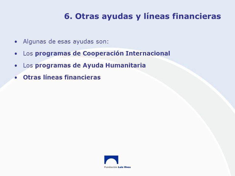 6. Otras ayudas y líneas financieras