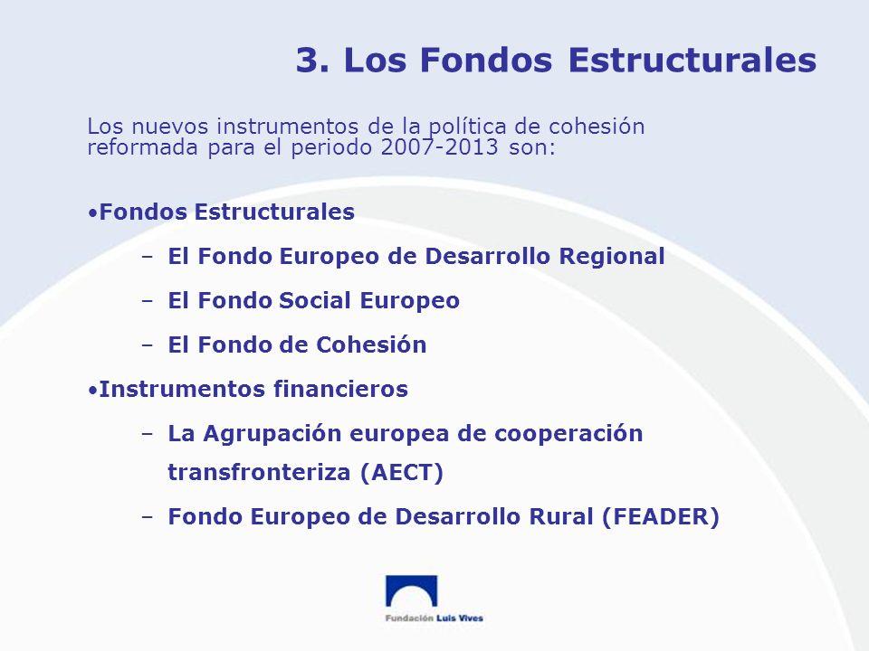 3. Los Fondos Estructurales