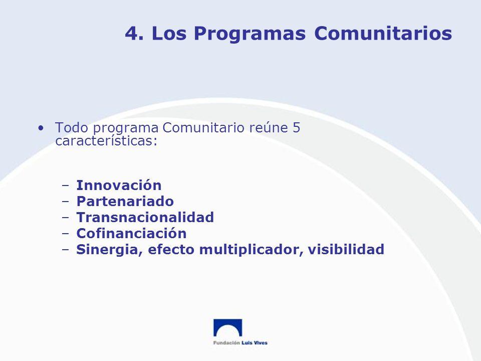 4. Los Programas Comunitarios