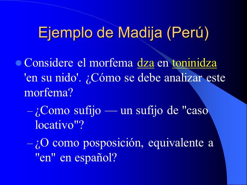 Ejemplo de Madija (Perú)