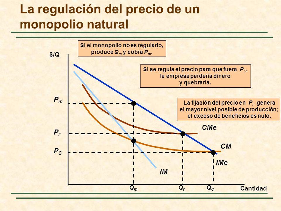 La regulación del precio de un monopolio natural