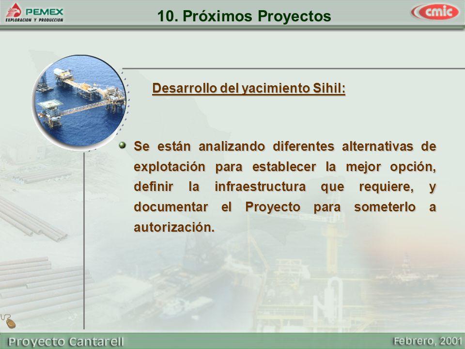 10. Próximos Proyectos Desarrollo del yacimiento Sihil: