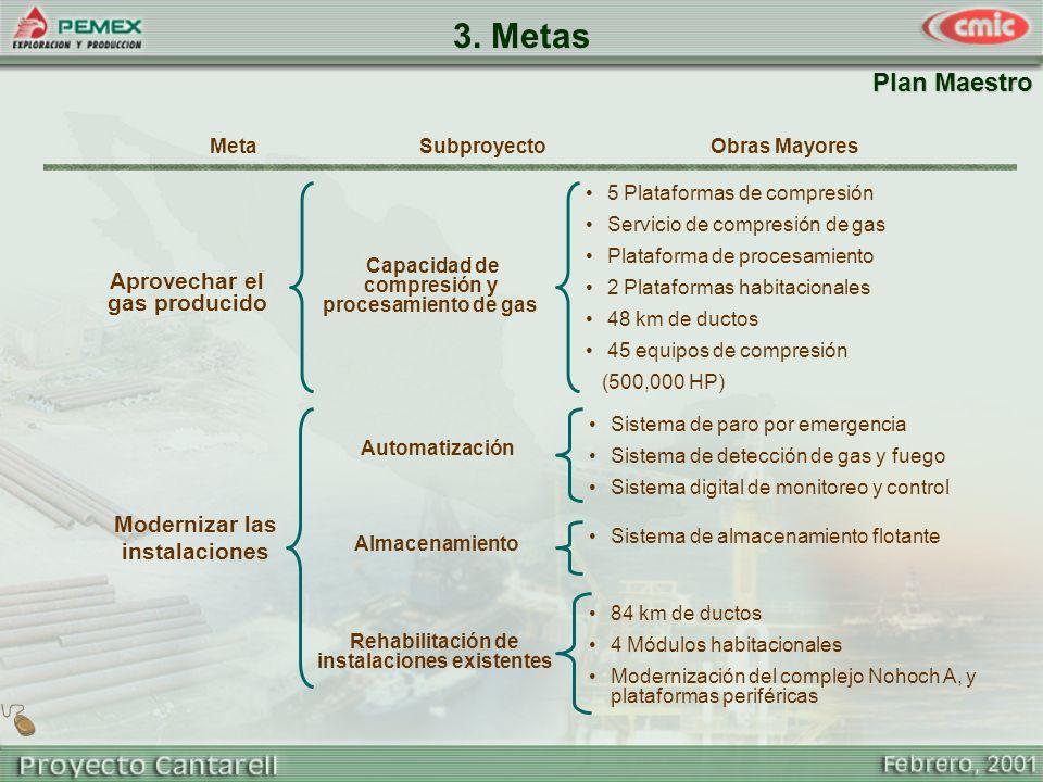 3. Metas Plan Maestro Aprovechar el gas producido