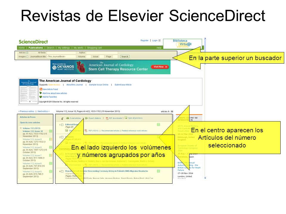Revistas de Elsevier ScienceDirect