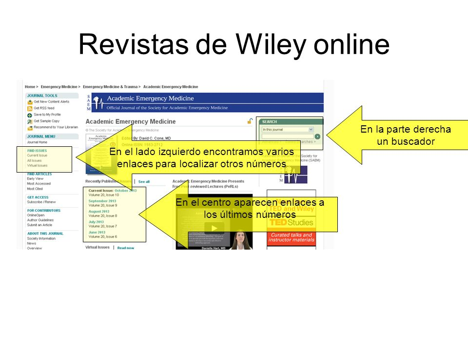 Revistas de Wiley online