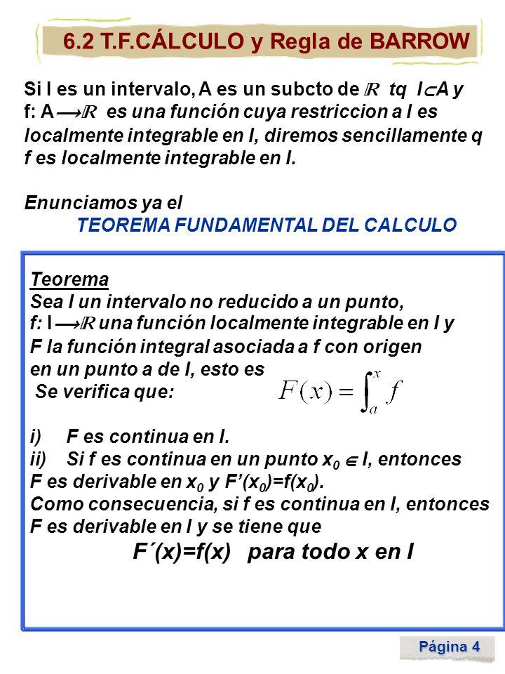6.2 T.F.CÁLCULO y Regla de BARROW