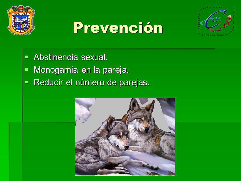 Prevención Abstinencia sexual. Monogamia en la pareja.