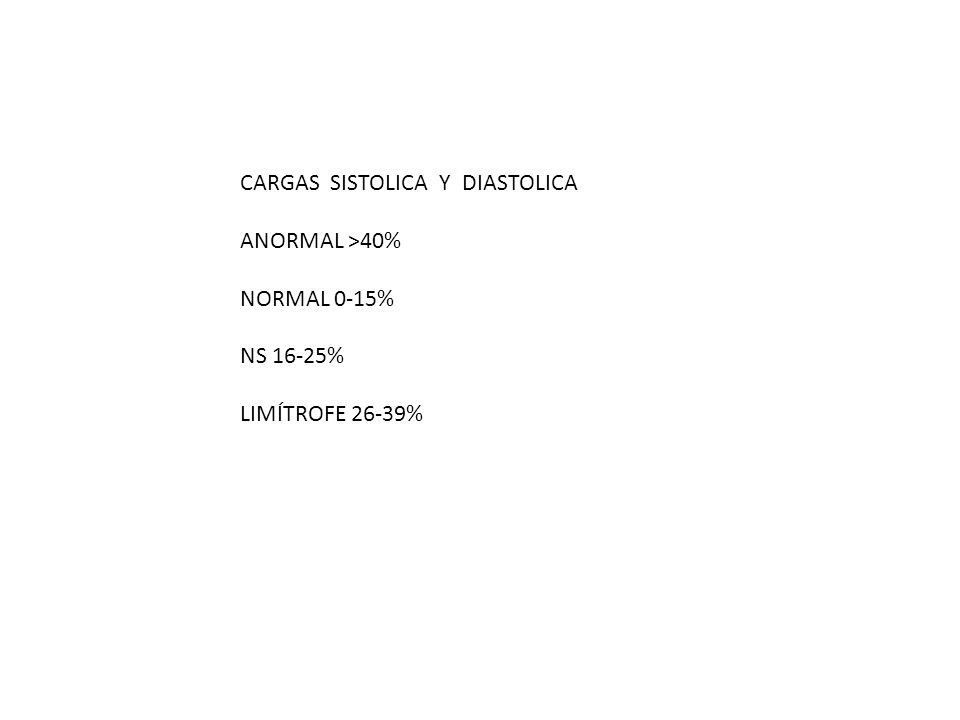 CARGAS SISTOLICA Y DIASTOLICA