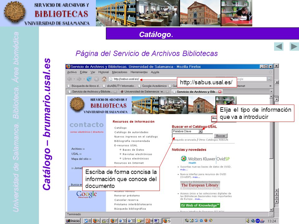 Catálogo – brumario.usal.es