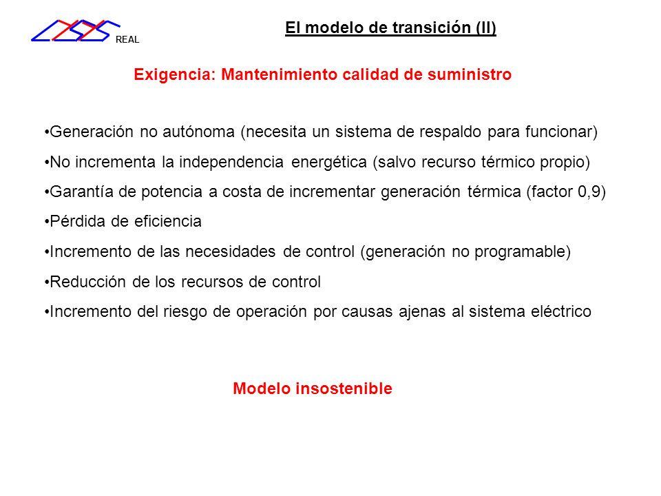 El modelo de transición (II)