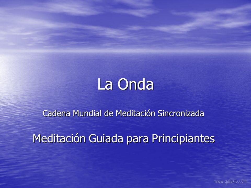La Onda Cadena Mundial de Meditación Sincronizada Meditación Guiada para Principiantes.