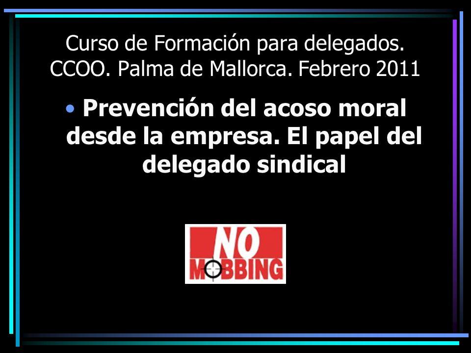 Curso de Formación para delegados. CCOO. Palma de Mallorca