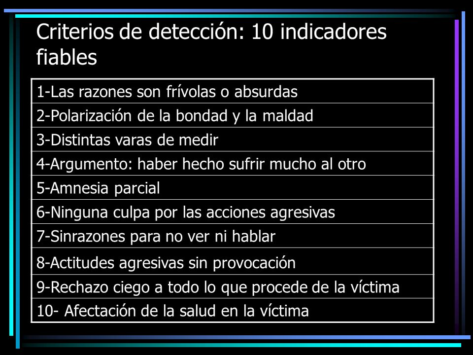 Criterios de detección: 10 indicadores fiables