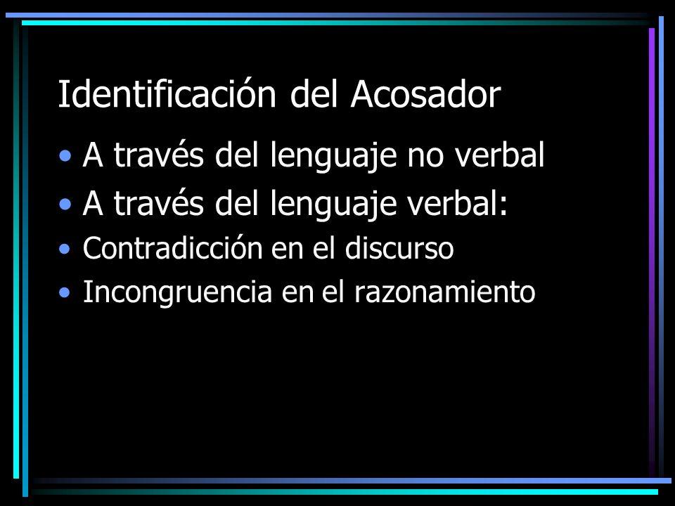 Identificación del Acosador
