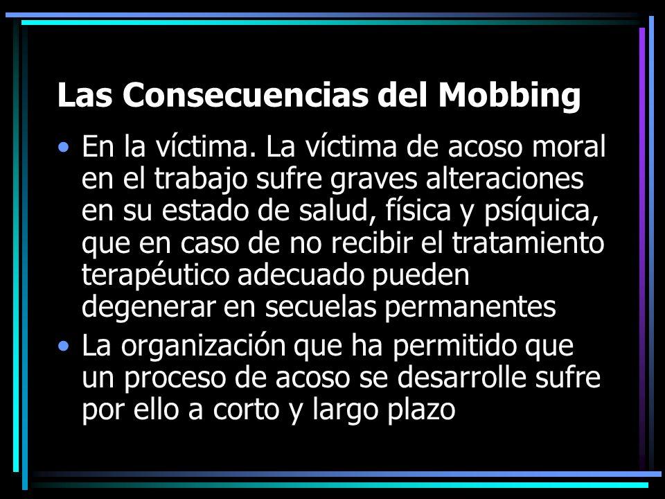 Las Consecuencias del Mobbing