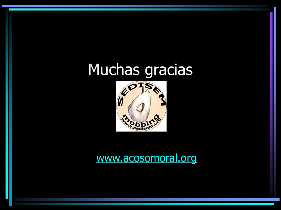Muchas gracias www.acosomoral.org