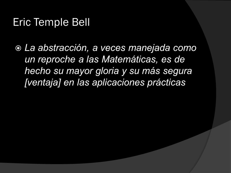 Eric Temple Bell