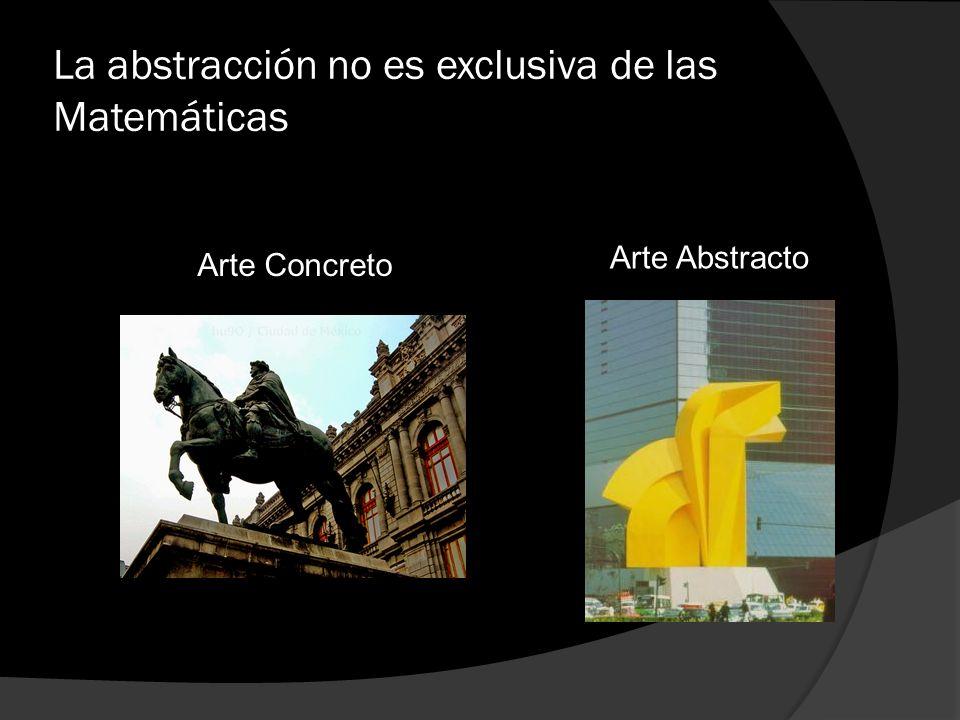 La abstracción no es exclusiva de las Matemáticas