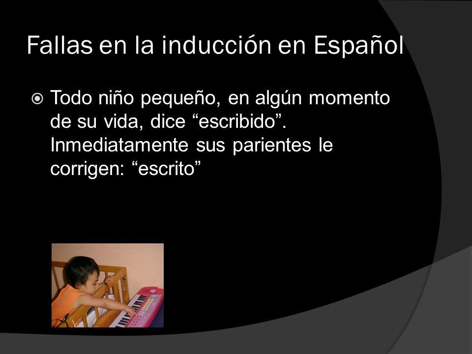 Fallas en la inducción en Español