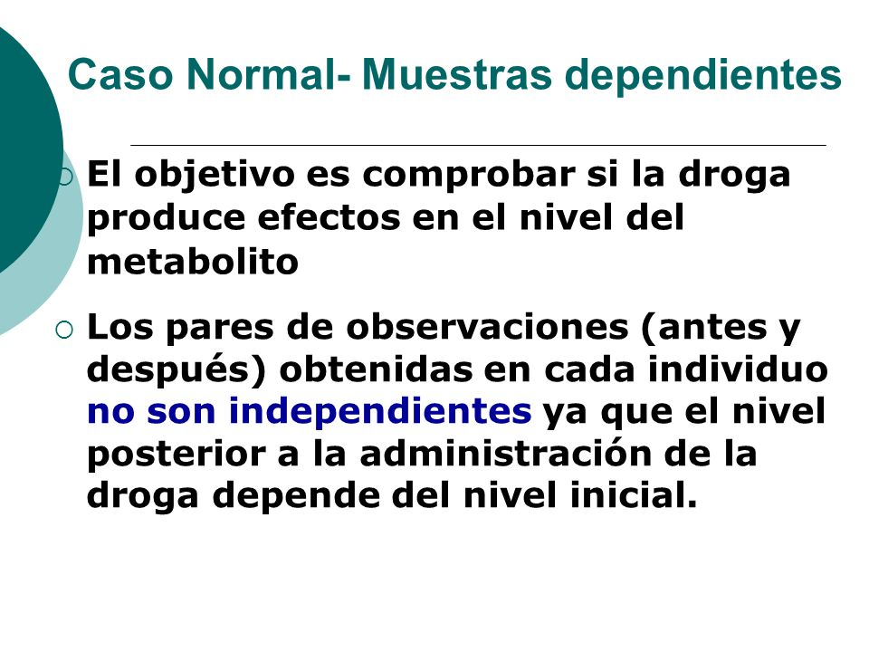 Caso Normal- Muestras dependientes