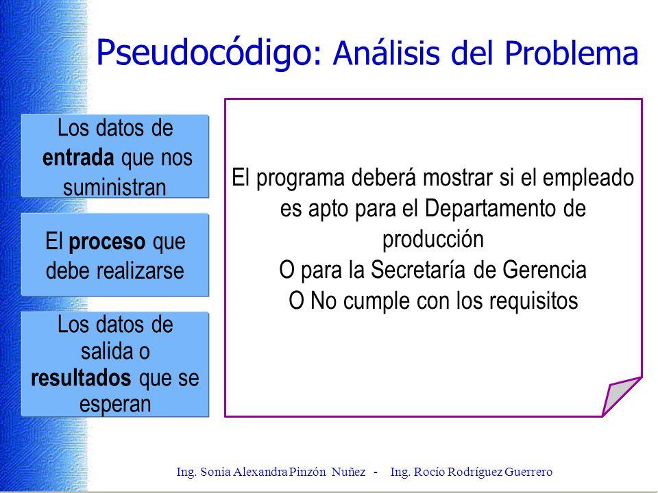 Pseudocódigo: Análisis del Problema
